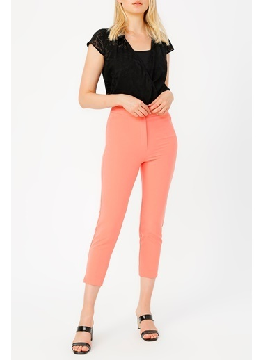 Random Yüksek Bel Klasik Pantolon Somon